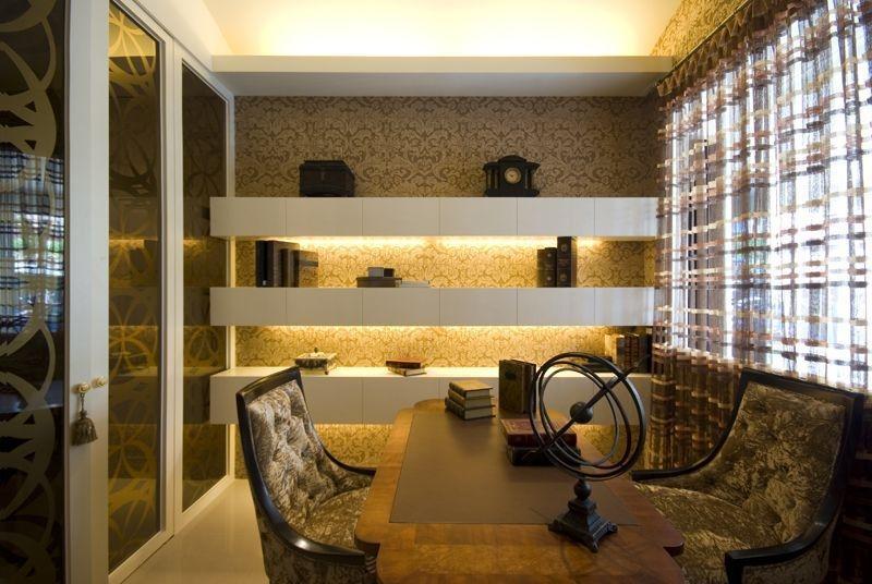 四居 现代混搭 阿拉奇设计 家庭装修 书房图片来自阿拉奇设计在摩纳哥风格大户型家庭装修的分享