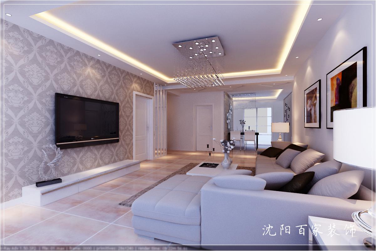 简约 三居 149平 白领 客厅 小资 80后图片来自百家装饰小米在沈阳惠民新苑的分享