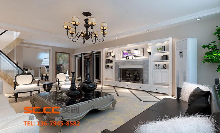 别墅 小资 80后 收纳 现代美式 好装修 性价比高 跑男 客厅图片来自家居装饰-赫拉在兰州实创打造现代美式别墅的分享