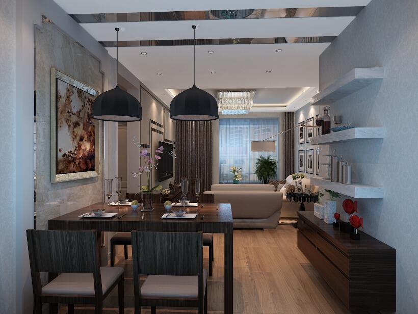 混搭 三居 保利春天里 餐厅图片来自业之峰装饰旗舰店在保利春天里95户型的分享