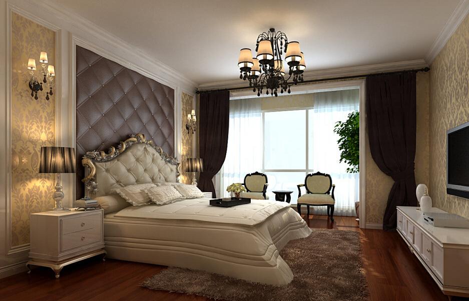 简约 欧式 三居 白领 收纳 80后 小资 卧室图片来自实创装饰百灵在欧式风格180平米风格与林的分享
