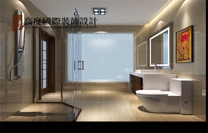 简约 装修 设计 案例 效果图 卫生间图片来自高度老杨在西山壹号院 200平米 简约的分享
