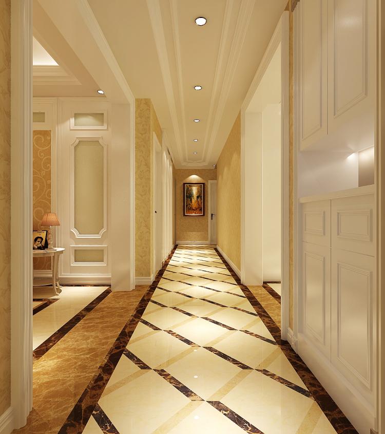 简欧 别墅 玄关图片来自高度国际宋书培在鲁能七号院—别墅装饰效果图的分享
