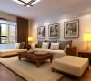 高新区轻工业家属院130平方三室两厅装修样板间案例,客厅装修效果图