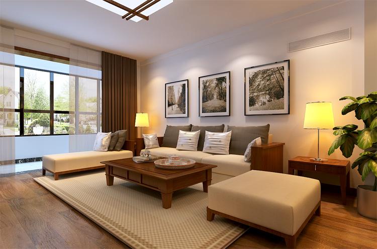 轻工业家属 套餐装修 三室两厅 新中式 客厅图片来自艺尚装饰-李帅在轻工业学院-新中式-文化底蕴的分享