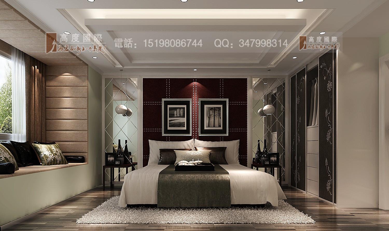 世茂玉锦湾 时尚风格 卧室图片来自成都高度国际别墅装饰在世茂玉锦湾------时尚现代风格的分享