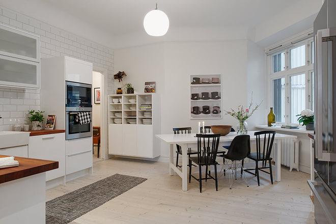 三居 北欧风 安静平和 餐厅图片来自业之峰装饰旗舰店在北欧印象 安静而平和的三居家的分享