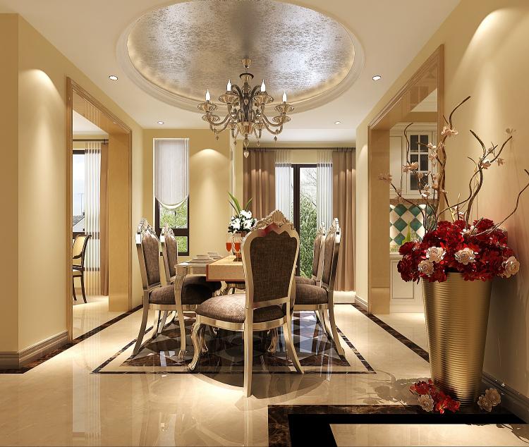 欧式 小资 餐厅图片来自高度国际宋书培在绿城百合公寓四居室装饰效果图的分享