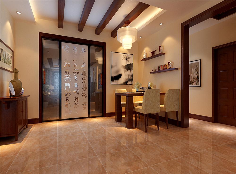 三居 中式 白领 收纳 餐厅图片来自装饰装修-18818806853在典雅新中式三居的分享