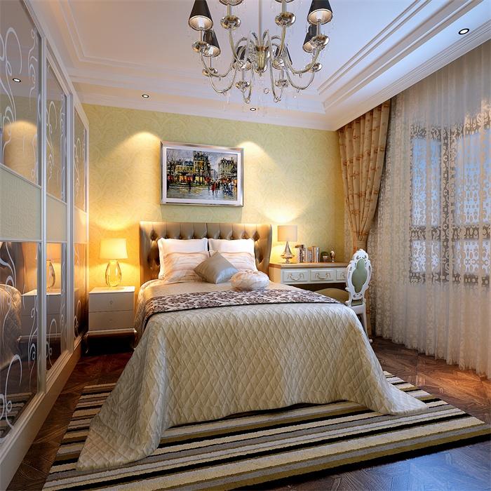 欧式 简约 卧室图片来自顾家装饰在四医大的分享