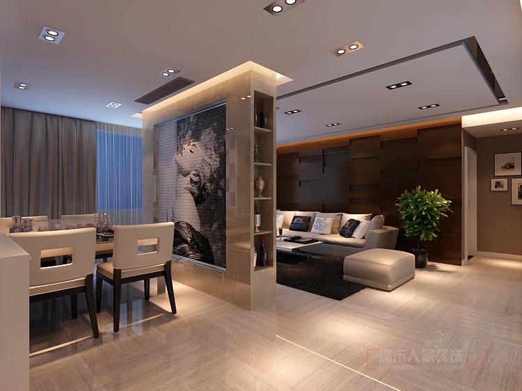简约 三居 收纳 80后 小资 客厅图片来自西安城市人家装饰王凯在御锦城148平米现代简约风格设计的分享