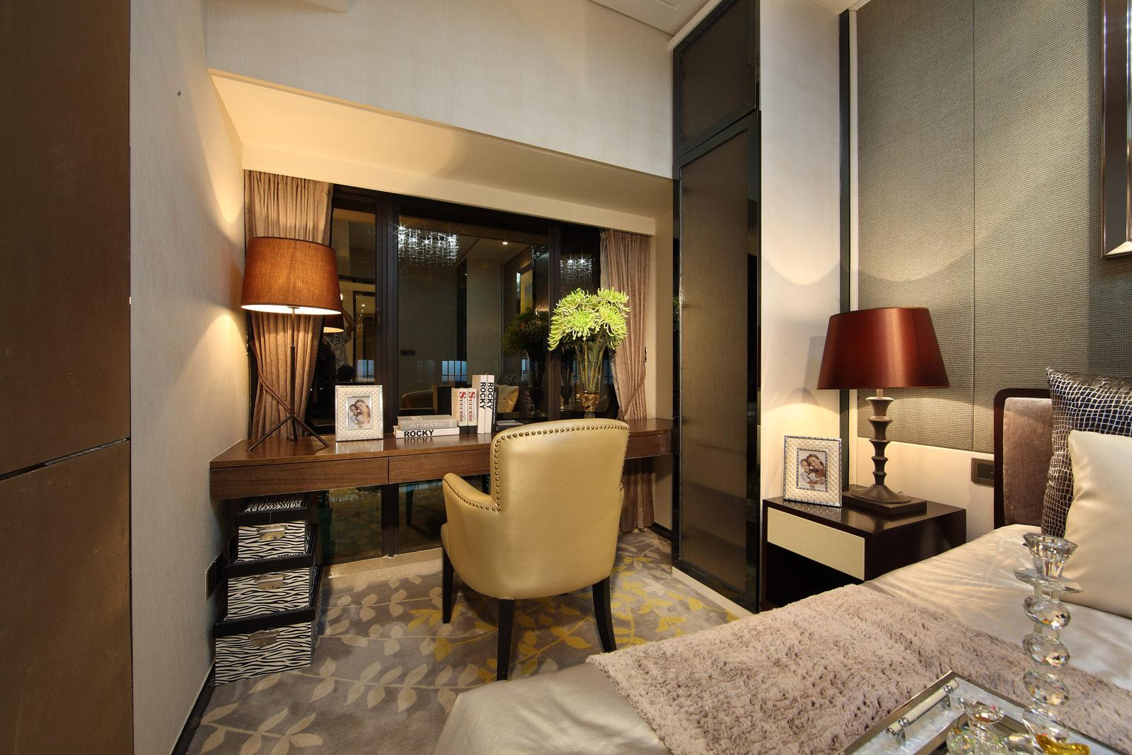 卧室图片来自唯美装饰在广电江湾130平现代简约风格的分享