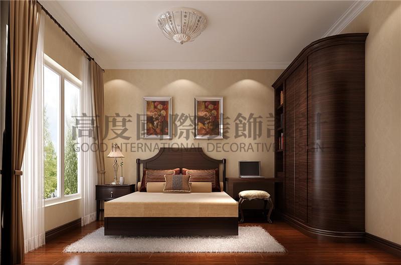 成都高度 别墅装修 别墅装饰 住宅装饰 南湖国际 130㎡ 现代休闲 卧室图片来自北京高度国际装饰设计成都分公司在南湖国际-130㎡-现代休闲的分享