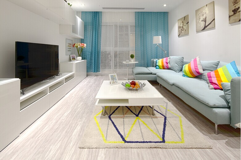 宜家 宜家风格 实创装饰 两居室 80后 小资 客厅图片来自北京实创装饰在实景样板间宜家风格2居室装修的分享