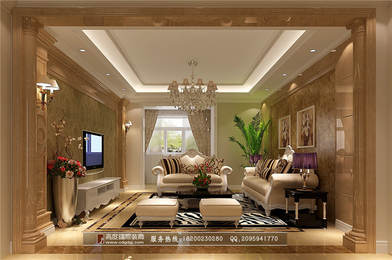 简约 欧式 三居 别墅 80后 小资 客厅图片来自高度国际家居别墅装饰在欧式风格的分享