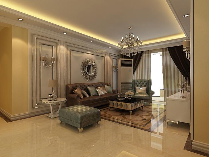 欧式 三居 白领 80后 小资 客厅图片来自石家庄业之峰装饰在保利花园124平米欧式风格装修的分享