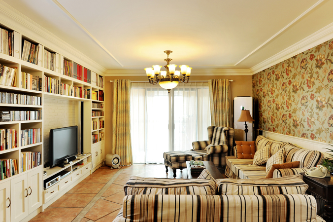 田园 三居 苹果装饰 客厅图片来自苹果装饰在锦绣江山田园装修案例的分享