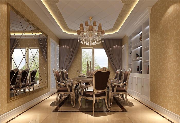欧式 小资 餐厅图片来自高度国际宋书培在华侨城四居室装饰效果图的分享