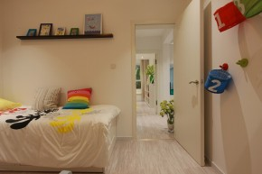 宜家 宜家风格 实创装饰 两居室 80后 小资 卧室图片来自北京实创装饰在实景样板间宜家风格2居室装修的分享