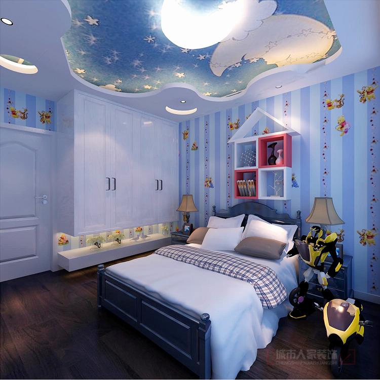 简约 三居 收纳 80后 小资 儿童房图片来自西安城市人家装饰王凯在御锦城148平米现代简约风格设计的分享
