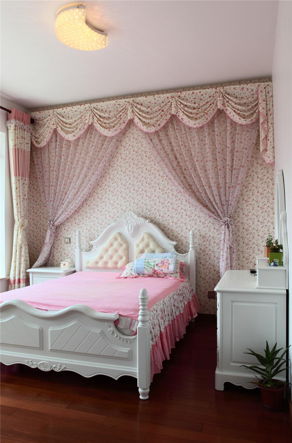 别墅 别墅装修 别墅设计 聚通装璜 实景展示 卧室图片来自jtong0002在别墅里的优雅美式风-实景展示!的分享