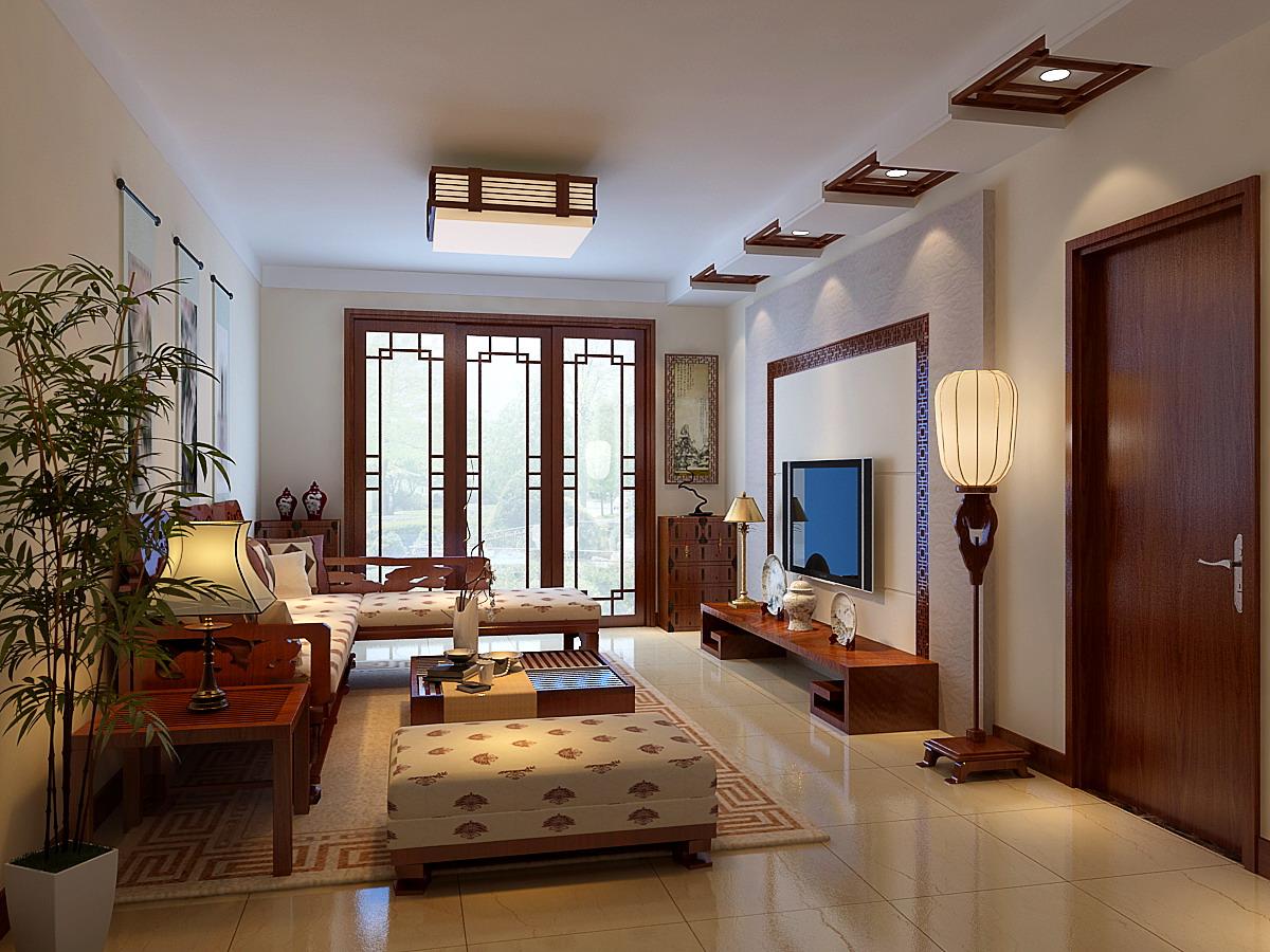 中式风格 别墅 四居 优雅温馨 80后 客厅图片来自实创装饰都琳在未曾见过的新中式优雅风格的分享