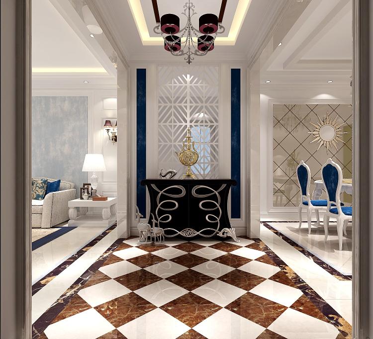 现代风格 三居 80后 玄关图片来自高度国际宋书培在江南山水三居室装饰效果图的分享