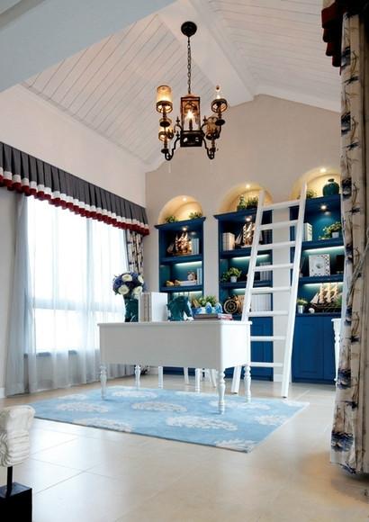 五居室 地中海 奢华 尊贵 书房图片来自百合居装饰工程有限公司在地中海-铂雅苑的分享