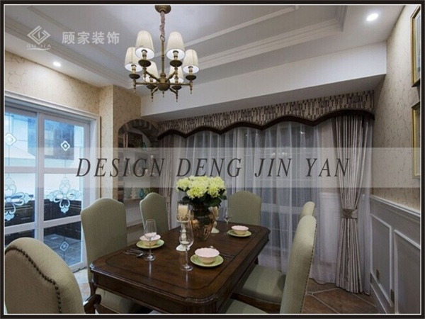 田园 美式 三居 装修 家装 效果图 餐厅图片来自顾家装饰在龙天名俊的分享