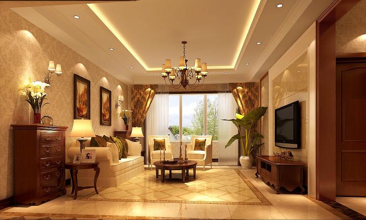 简欧 三居 80后 客厅图片来自高度国际宋书培在纳帕澜郡 三居室装饰效果图的分享