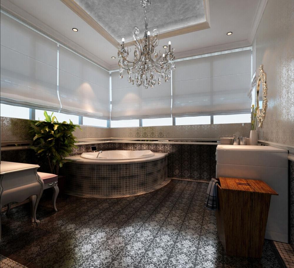 欧式 混搭 白色爵士乐 别墅 卫生间图片来自于平703在红星国际-白色爵士乐-欧式-朱佳的分享