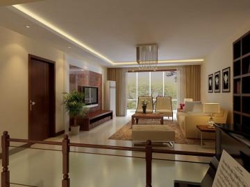 简单自然130平现代风格跃层三居