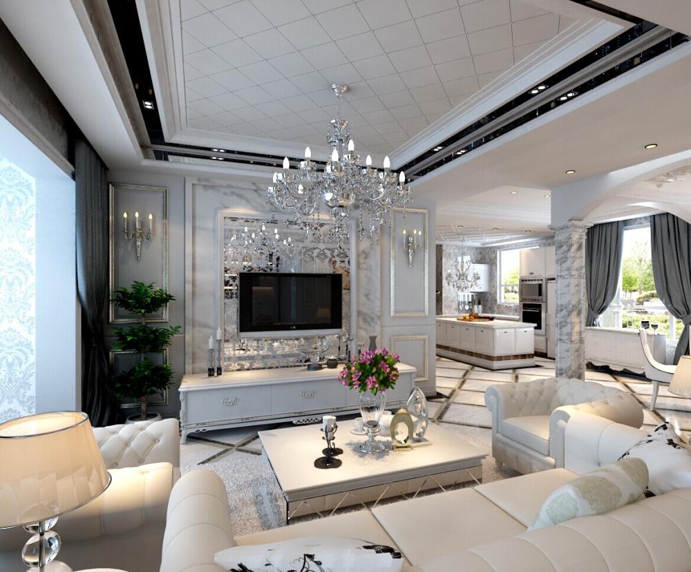 欧式 混搭 白色爵士乐 别墅 客厅图片来自于平703在红星国际-白色爵士乐-欧式-朱佳的分享