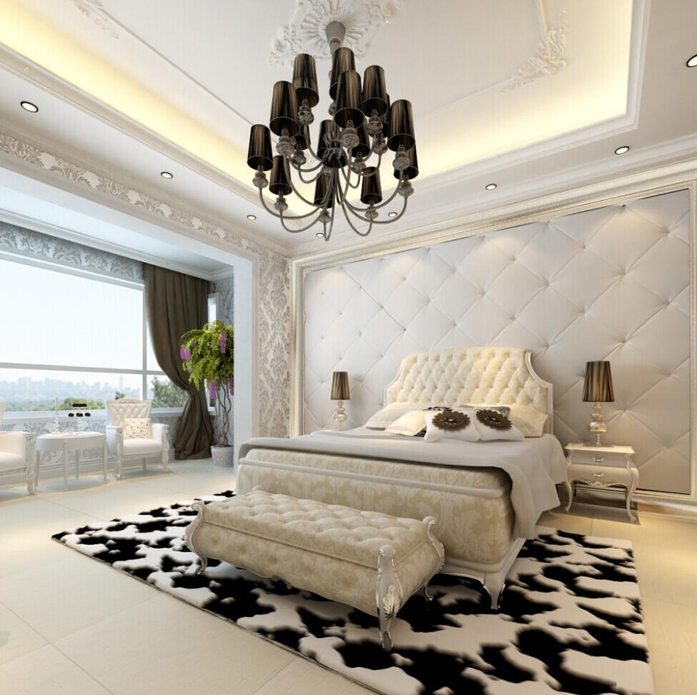 欧式 混搭 白色爵士乐 别墅 卧室图片来自于平703在红星国际-白色爵士乐-欧式-朱佳的分享