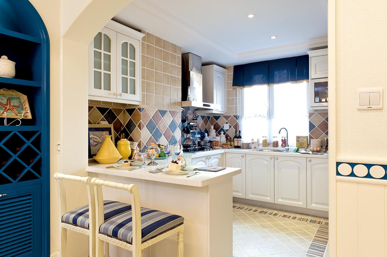 复式 地中海 卡梅尔小镇 半包 厨房图片来自众意装饰在卡梅尔小镇的分享