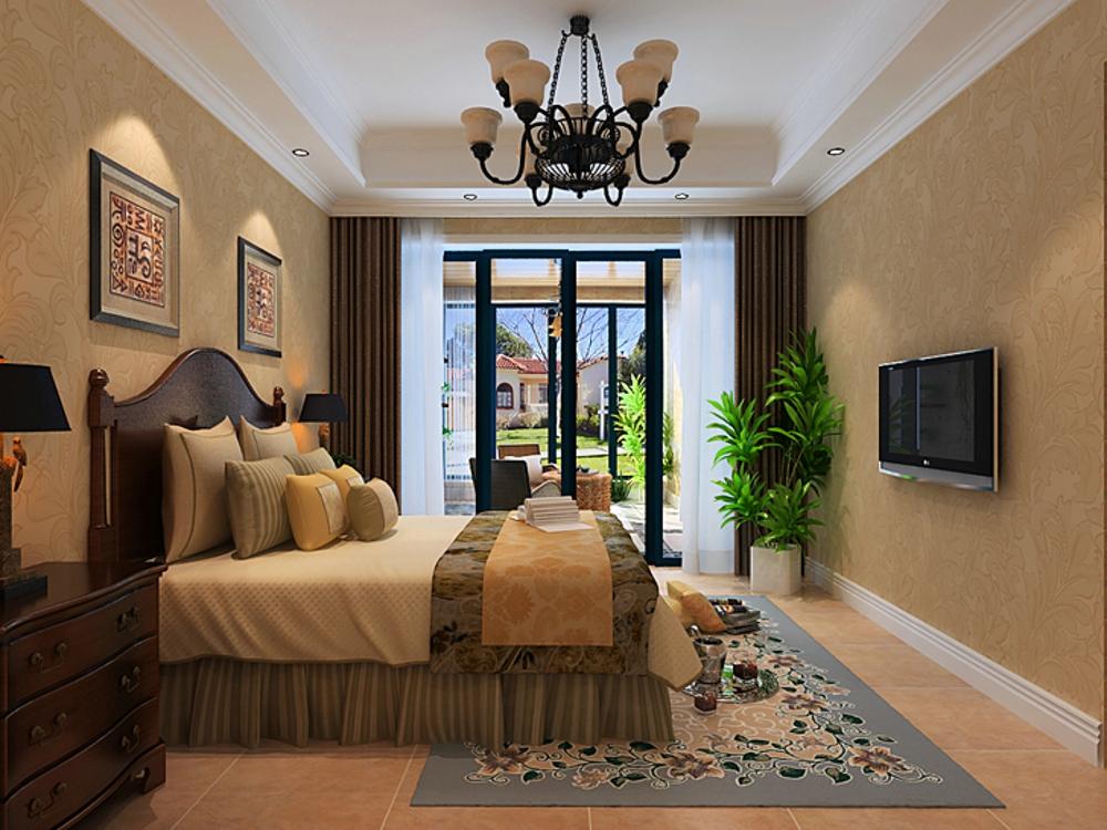 四居室 欧式 风格 效果图 卧室图片来自石家庄业之峰装饰虎子在卡玛国际165平米欧式风格效果图的分享