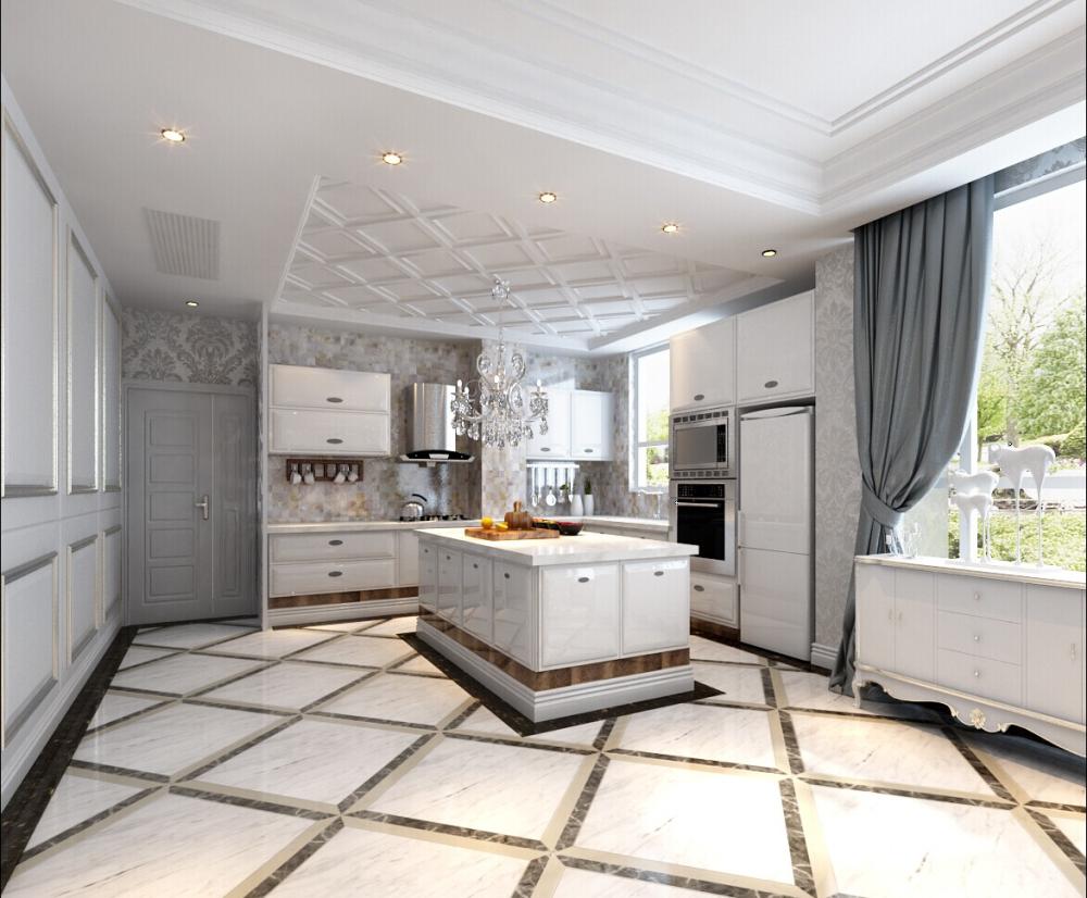 欧式 混搭 白色爵士乐 别墅 厨房图片来自于平703在红星国际-白色爵士乐-欧式-朱佳的分享