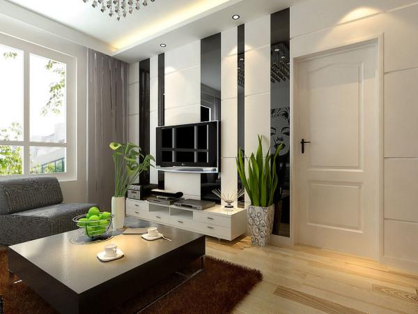 客厅: 舒适大方背景墙线条 活灵活现。调节气氛