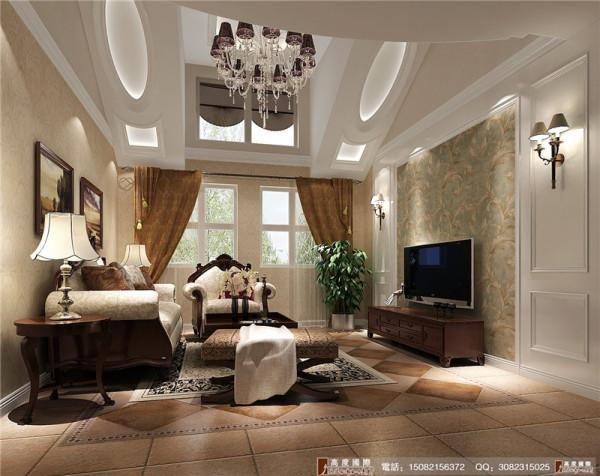 君汇上品客厅细节效果图-成都高度国际装饰