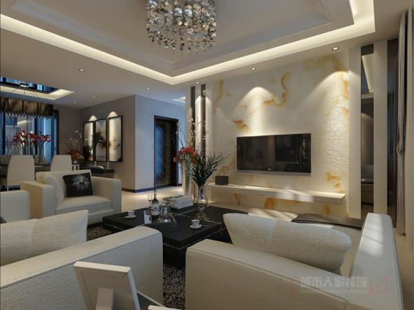 客厅是主任品味的象征,体现了主人品格,地位,也是交友娱乐的场合,电视背景墙采用石材和灰镜,既简单又大方,又有档次。