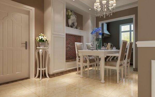 整个餐厅的布局与客厅整体相互呼应,色调也基本保持一致,整个客餐厅完美融合。