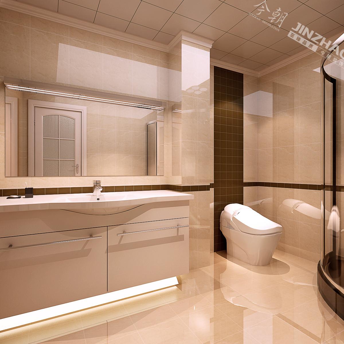一居 现代 今朝 效果图 设计 装修 卫生间图片来自石家庄今朝装饰在77平米的婚房效果图的分享