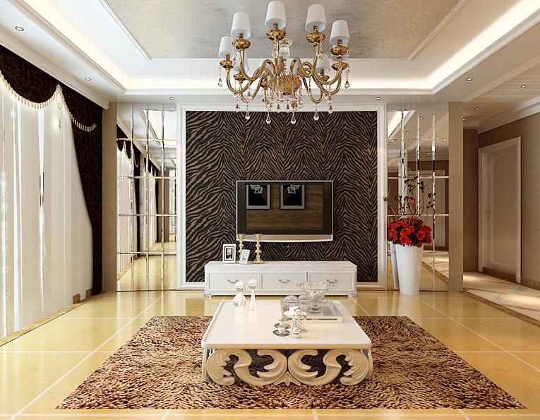欧式 混搭 大户型 80后 客厅图片来自石家庄业之峰装饰在保利花园161平米欧式混搭装修的分享