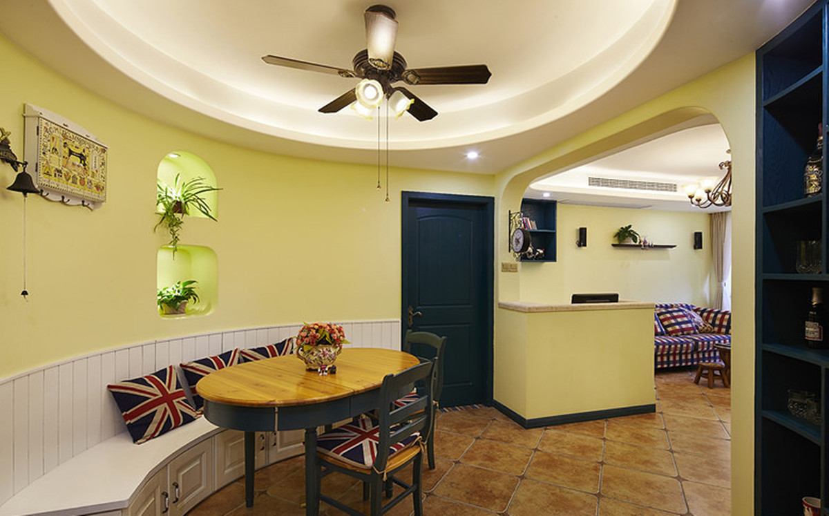田园 二居 小资 80后 白领 地中海 小清新 餐厅图片来自2786584496x在田园三居的分享