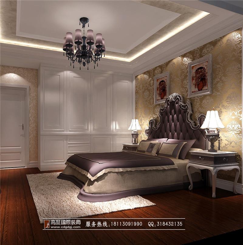 欧式 loft 80后 卧室图片来自成都高度国际装饰娜娜在保利百合花园120loft欧式的分享