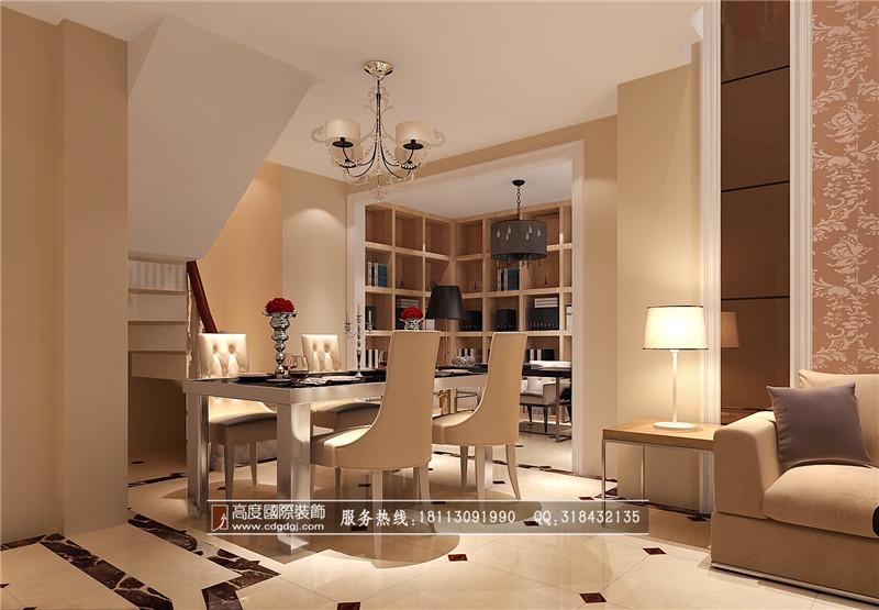 欧式 loft 80后 餐厅图片来自成都高度国际装饰娜娜在保利百合花园120loft欧式的分享