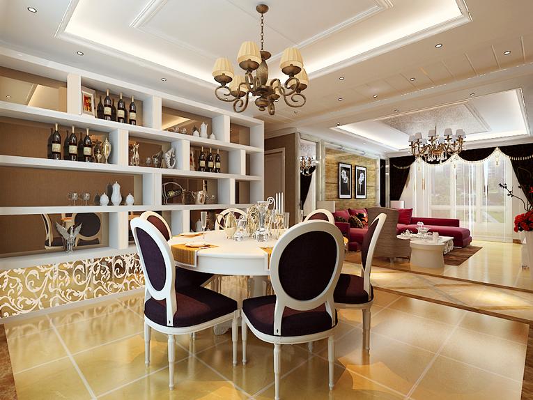 欧式 混搭 大户型 80后 餐厅图片来自石家庄业之峰装饰在保利花园161平米欧式混搭装修的分享