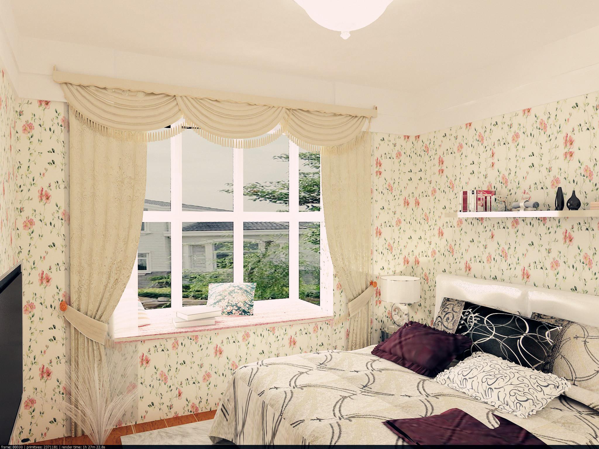 三居 田园 80后 现代田园 小清新 自然舒适 卧室图片来自实创装饰都琳在首开熙悦山—三居室现代田园风格的分享