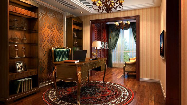 家庭装修 室内装修 高度国际 尚层 东易 三居 欧式 简约 混搭 书房图片来自高度国际装饰王伟在K2百合湾--四居室简欧风格的分享