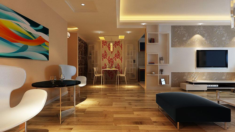 家庭装修 室内装修 高度国际 尚层 东易 三居 田园 简约 混搭 餐厅图片来自高度国际装饰王伟在倚山家园小区---现代简约风格的分享